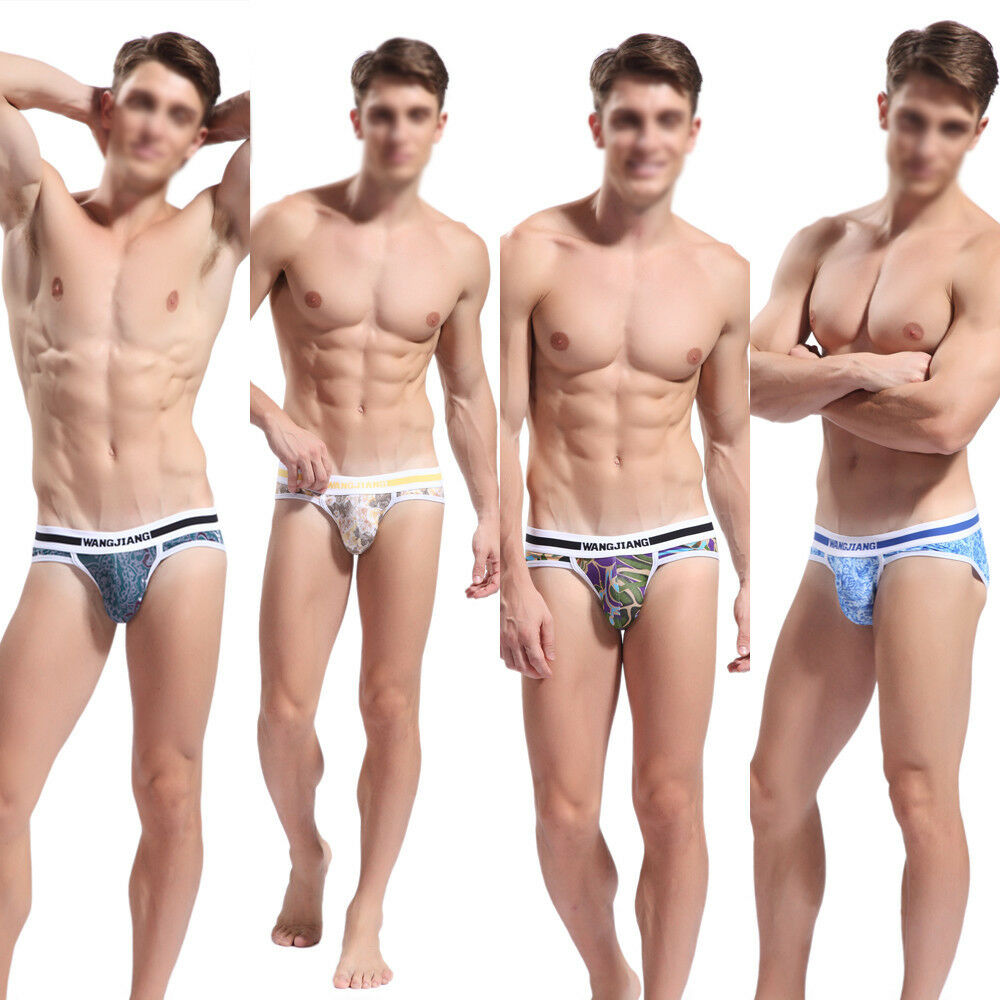 Sexy Retro Printing Men's Boys Underwear Underpant Thong G-String ...