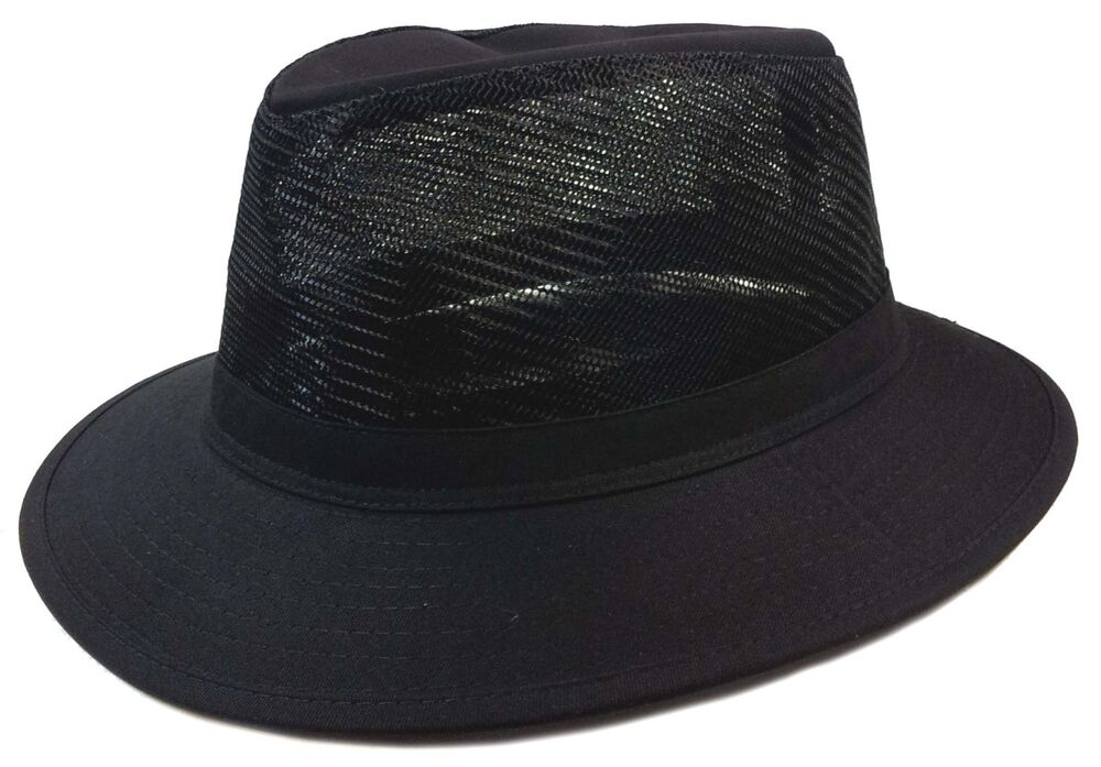 Boonie fishing hiking army military big hard brim mesh for Mesh fishing hats
