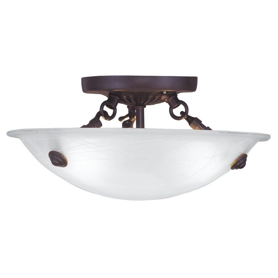 livex 3 light sm semi flush mount ceiling lighting fixture