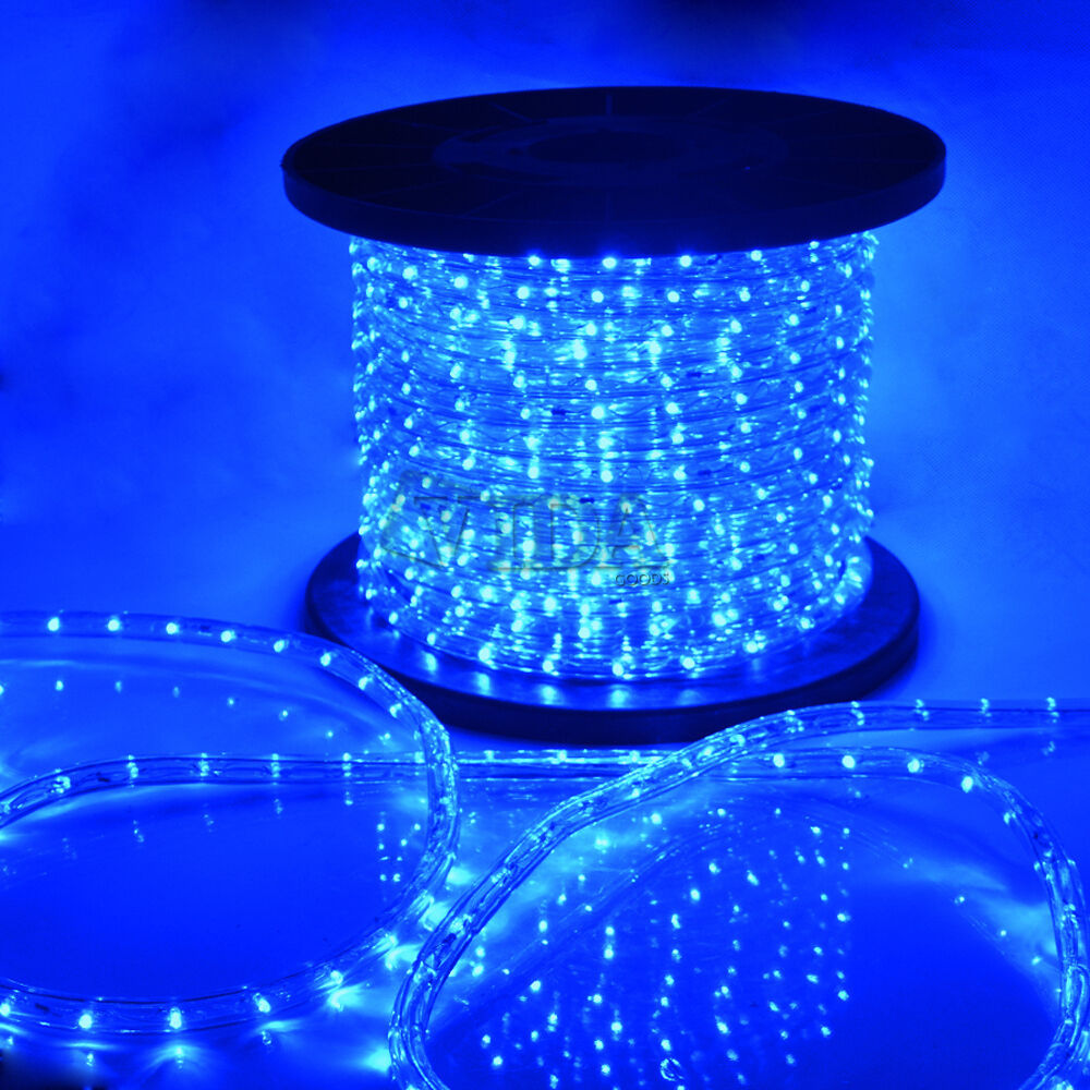 Ebay Outdoor Xmas Lights: Blue LED Rope Light 110V Home Party Christmas Decorative
