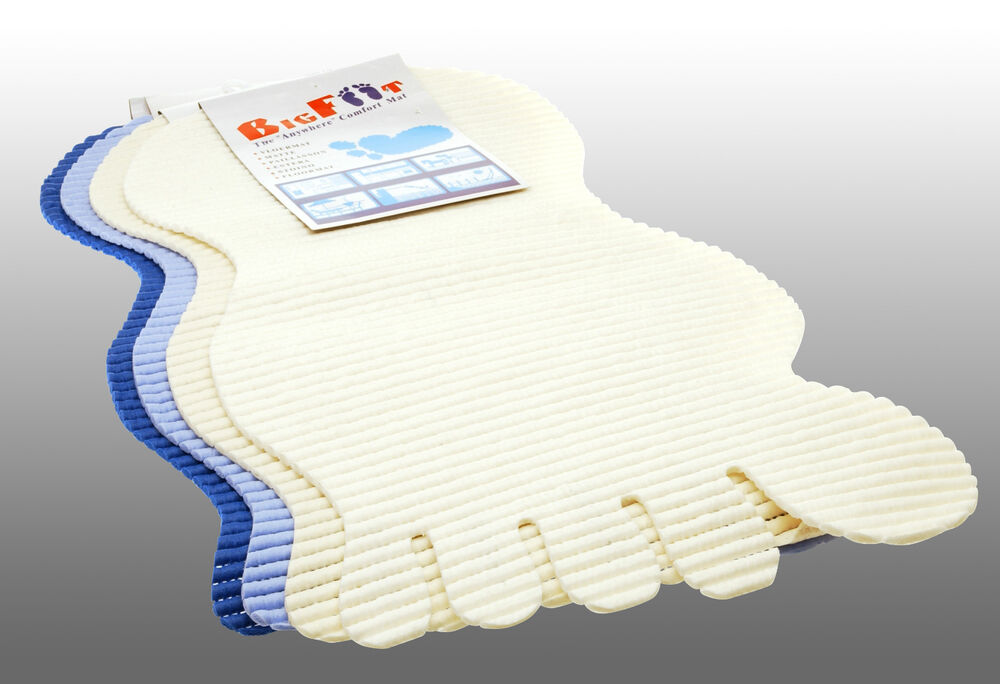 Big Foot Bath Mat Foot Shaped Quot Anywhere Quot Comfort Mat