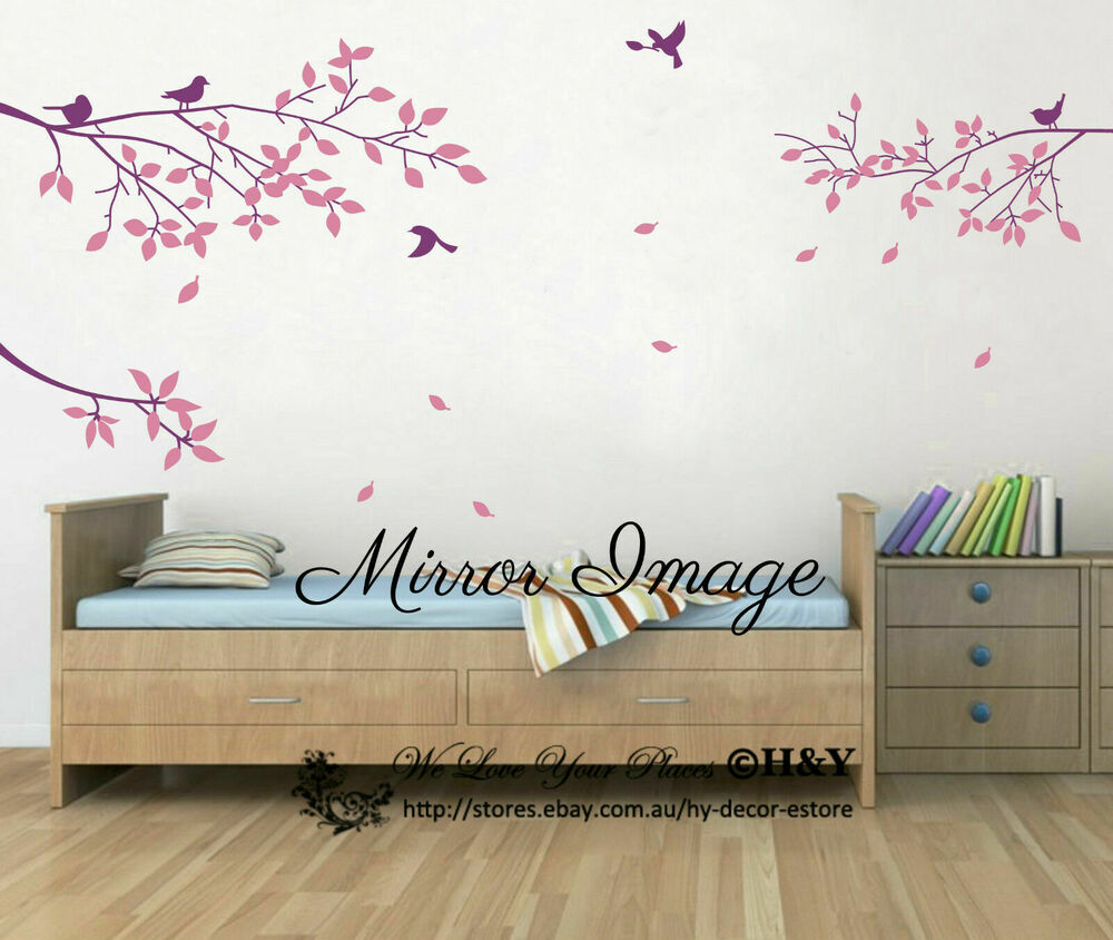 Large Tree Branches Bird Wall Stickers Wall Decal