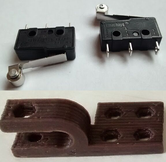 3d printer mechanical endstop switch for reprap rs 75 3d printer endstop switch mechanical roller lever 276