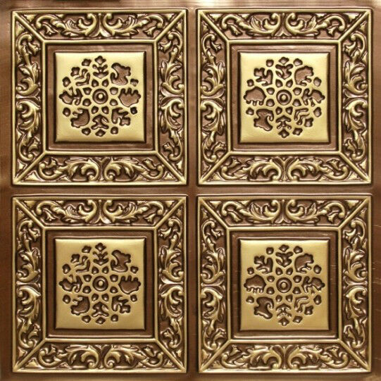 3d Embossed Faux Tin Decorative 24x24 Pvc Ceiling Tile