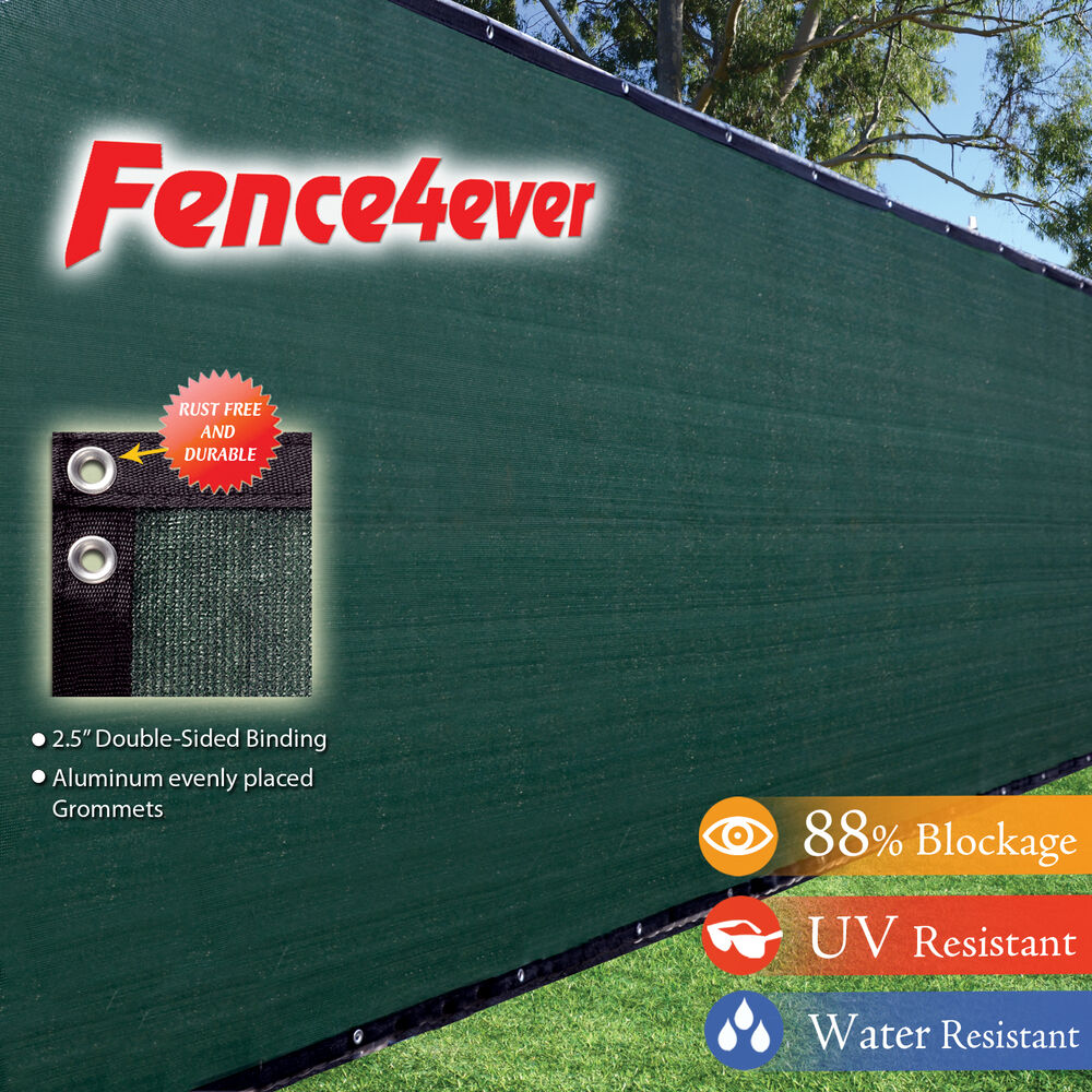 Green 8 X50 Fence Windscreen Privacy Screen Shade Cover Fabric Mesh Garden Tarp Ebay