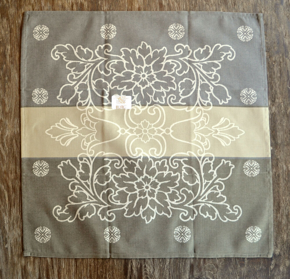 le jacquard francais villa toscane marbel napkin greys and tan ebay. Black Bedroom Furniture Sets. Home Design Ideas