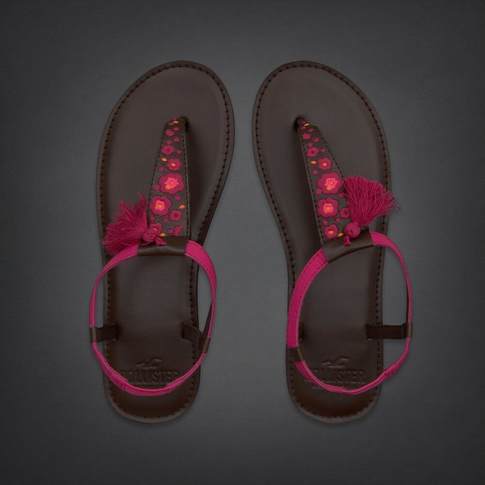 Nwt Hollister By Abercrombie Women Leather Sandals
