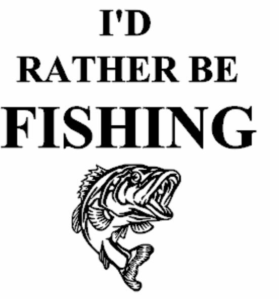 I 39 d rather be fishing vinyl car or truck decal ebay for Rather be fishing