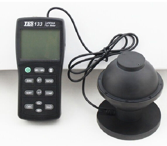 tes 133 digital luminous flux meter light meter to. Black Bedroom Furniture Sets. Home Design Ideas