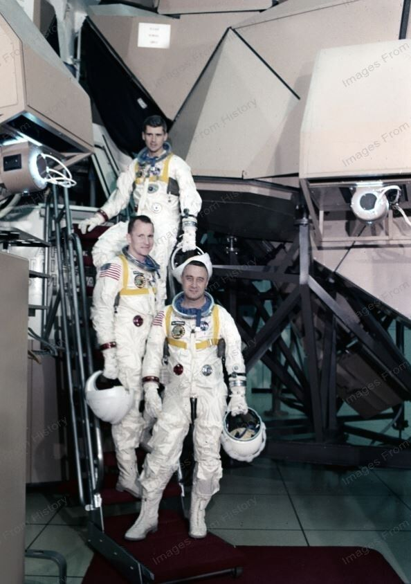 8x10 Print NASA Crew Apollo Saturn 204 Astronauts 1967 ...