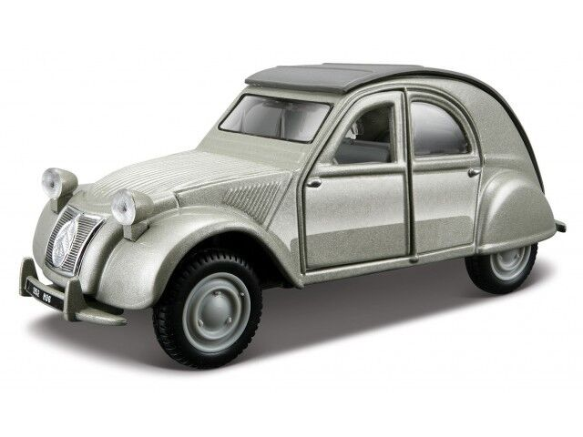 citroen 2 cv 1952 1 32 car model die cast models cars diecast burago grey