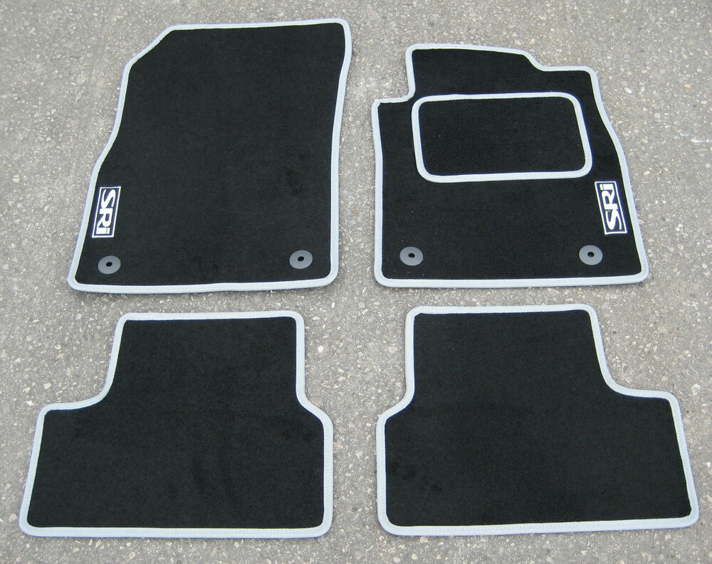 car mats in black silver to fit vauxhall astra mk6 09 15. Black Bedroom Furniture Sets. Home Design Ideas