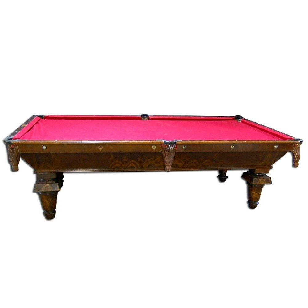 Antique brunswick new acme pool table 7136 ebay for Brunswick pool tables