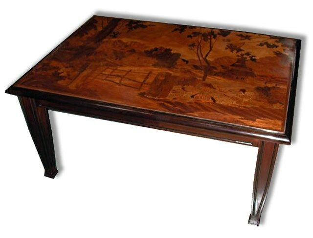 Inlaid Art Nouveau Coffee Table 5500 Ebay