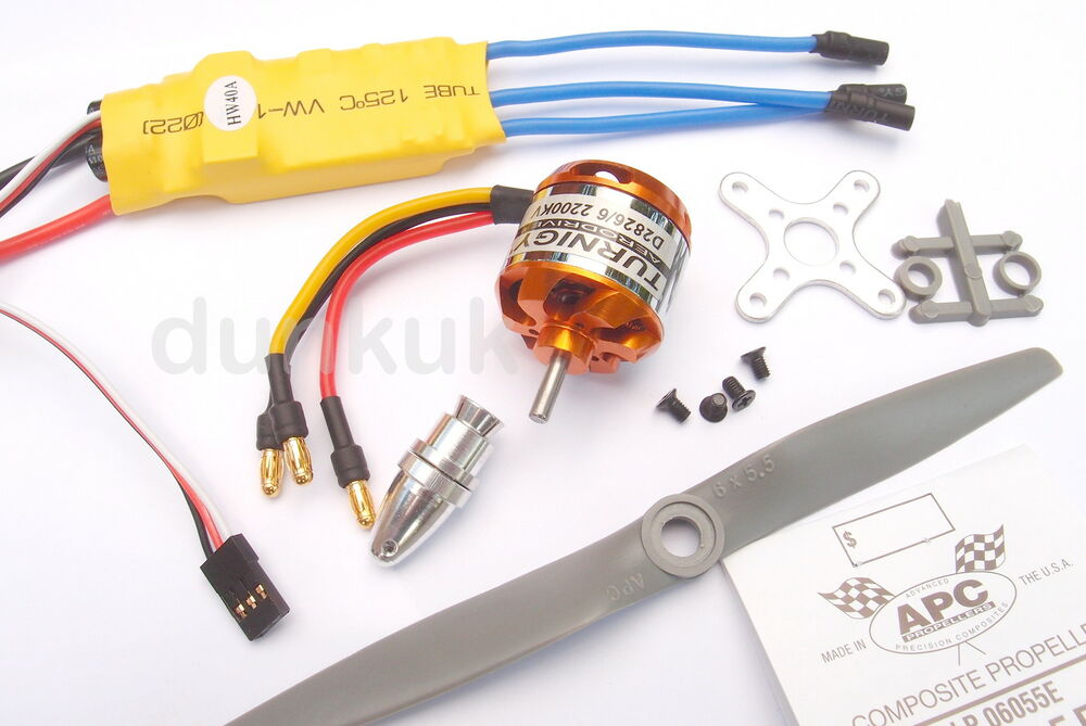 Uk 2200kv high speed brushless outrunner motor 40a esc for High speed brushless dc motor