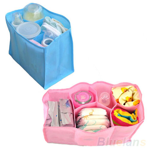 Diaper bag baby nappy bottle clothes storage organizer for Baby clothes size organizer
