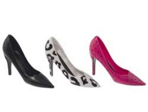 stiletto high heel shoes 1 cake decoration topper cupcake