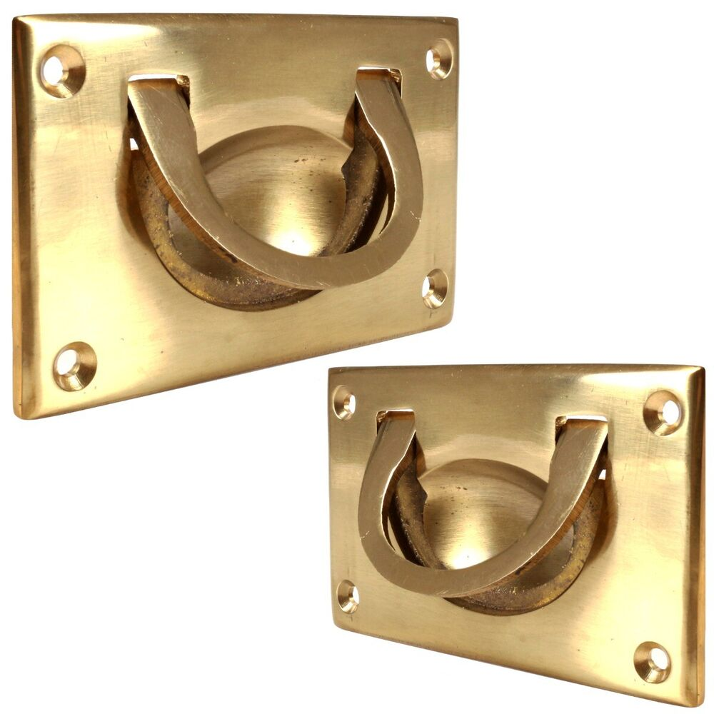 Solid Brass Flush Drop Handle 70 Or 90mm Furniture