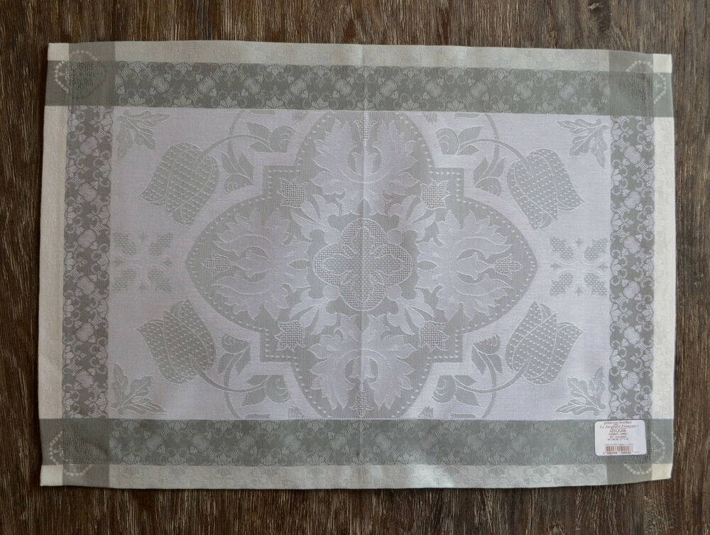 le jacquard francais azulejos grey placemats set of 4 ebay. Black Bedroom Furniture Sets. Home Design Ideas