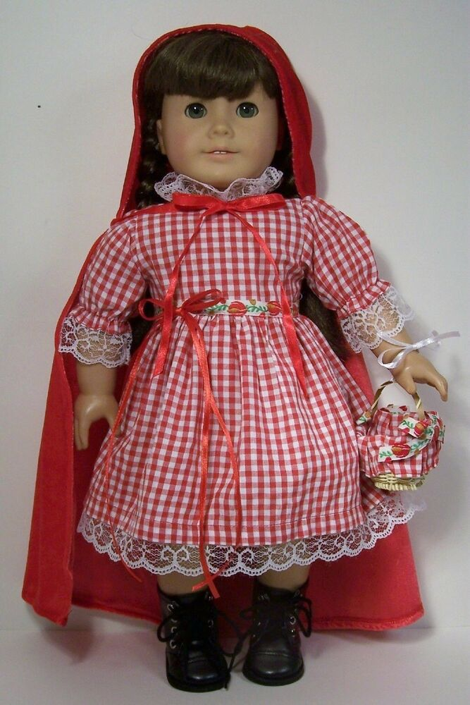 Little Red Riding Hood Costume Dress Doll Clothes For 18