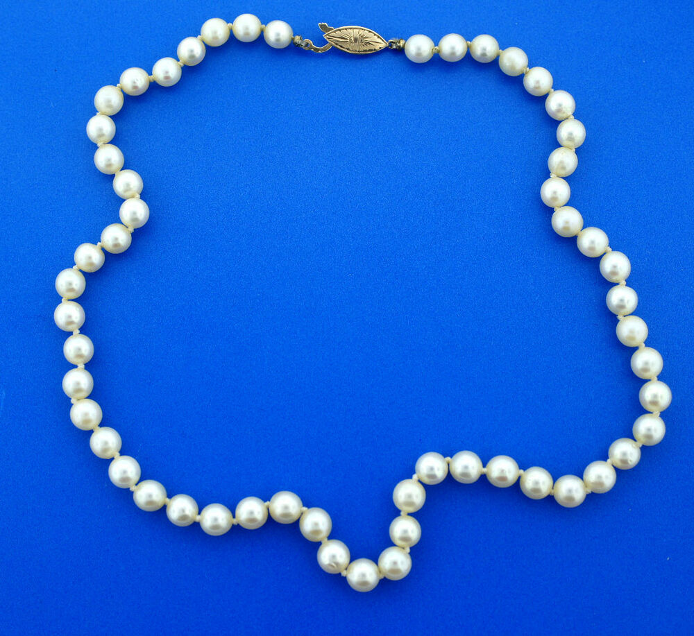Pearl Necklace Clasp: 14K YELLOW GOLD CLASP CULTURED SOUTH SEA PEARL STRAND