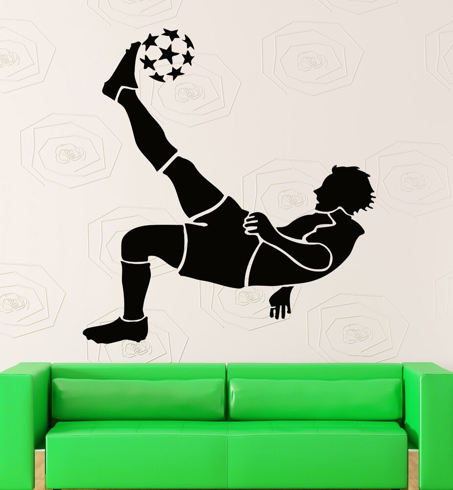 Wall Stickers Vinyl Decal Fifa Soccer Ball Player Sport