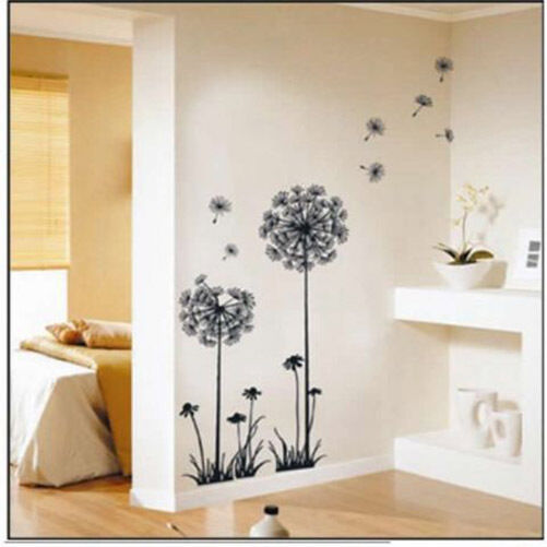 Diy home decor dandelion fly mural removable decal room for Dandelion mural