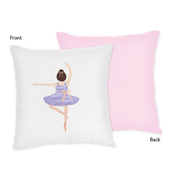 Decorative Bedroom Pillow Sets : Decorative Kid Accent Throw Pillow for Sweet Jojo Ballet Ballerina Bedding Sets eBay