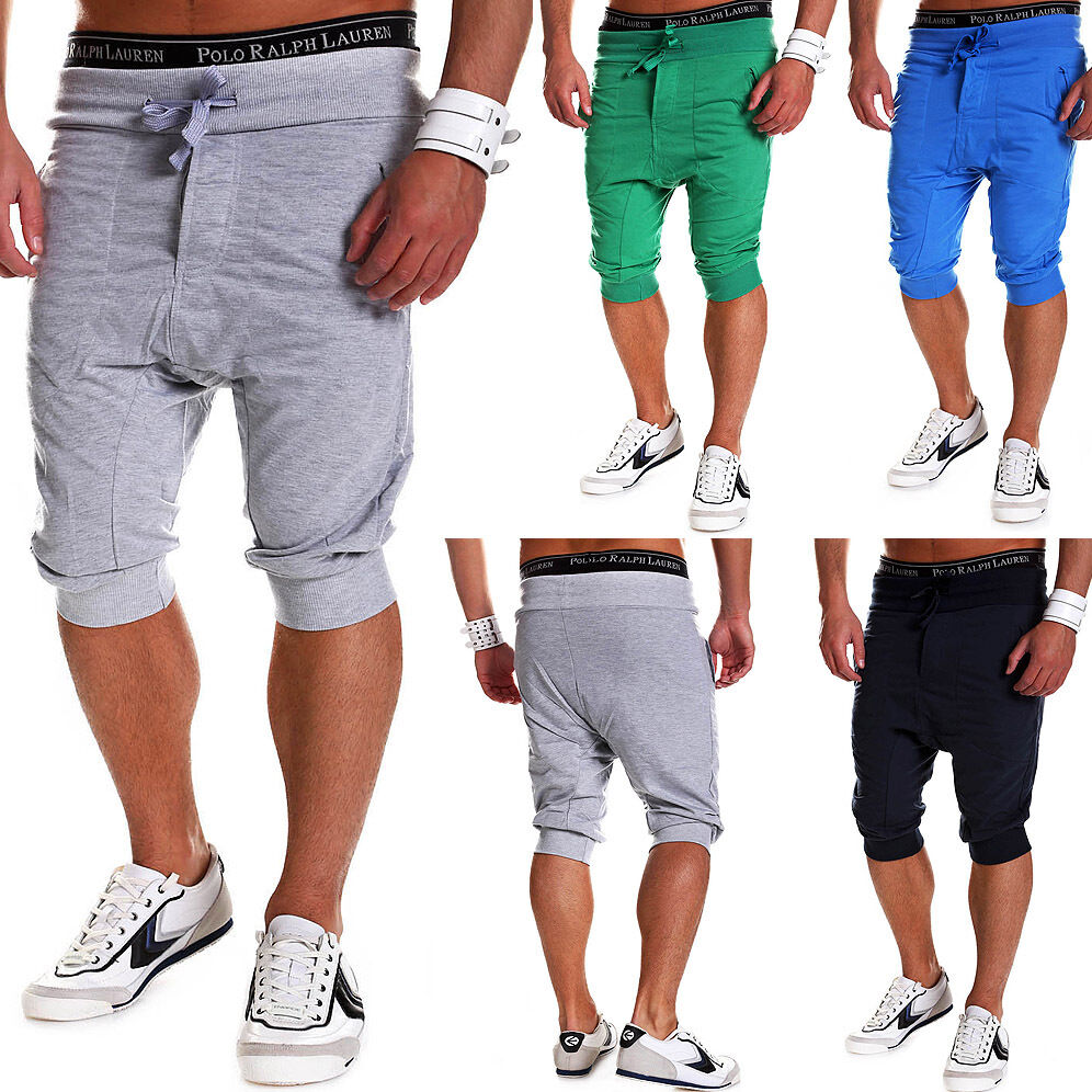 herren shorts loose fit kurze trainingshose jogginghose fitness hose grau blau ebay. Black Bedroom Furniture Sets. Home Design Ideas