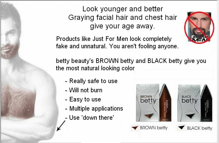 Betty Beauty Manscaping Hair Color Private Area Chest Head