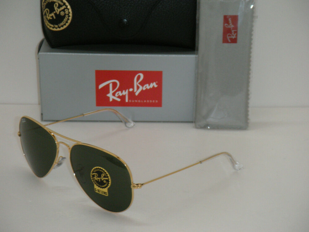 ray ban rb3026 metal green mirror glass  ray ban 3026 aviator gold frame rb 3026 l2846 62mm green g 15 large metal ii