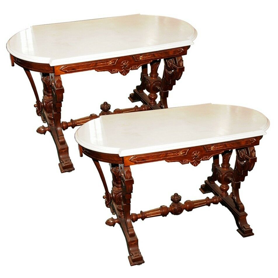 Marble Coffee Table Ebay Uk: Victorian Marble Top Accent Tables #2627