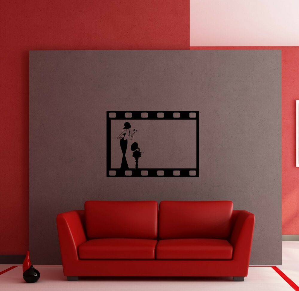 wall stickers vinyl decal vintage hollywood movie. Black Bedroom Furniture Sets. Home Design Ideas