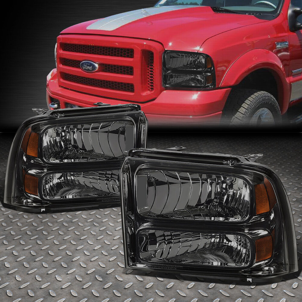 2005 Ford Super Duty Harley Davidson: FOR 05-07 FORD SUPER DUTY TRUCK SMOKED HOUSING HEADLIGHT