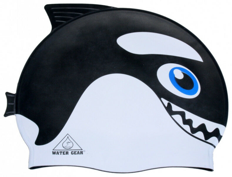 Free willy shamu silicone critter learn to swim cap orca for Swimming fish cat toy