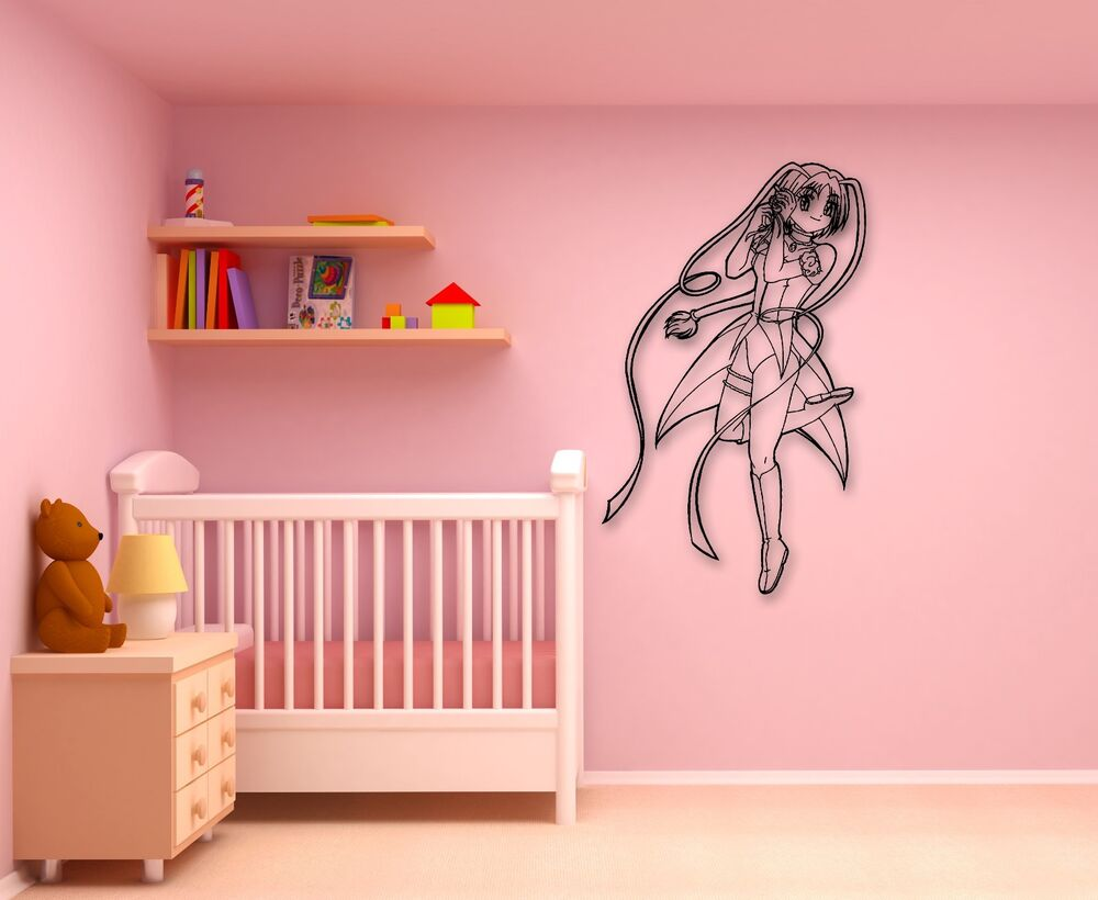 Wall Stickers Vinyl Decal Anime Girl Cartoon For Kids Baby