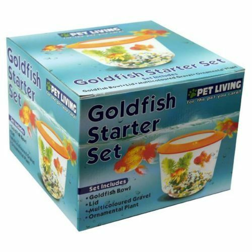 goldfish home office aquarium gold fish tank bowl gravel plant kit starter set ebay. Black Bedroom Furniture Sets. Home Design Ideas