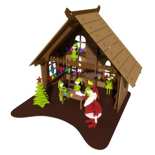 Santas Workshop Elf Doll House Kit Christmas Craft Laser