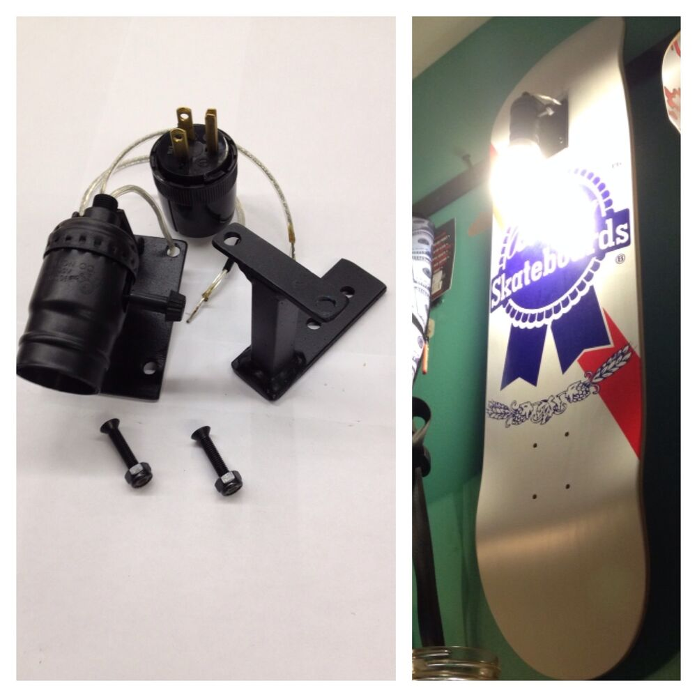 Skateboard Deck Display Wall Mount Light Fixture Hanger