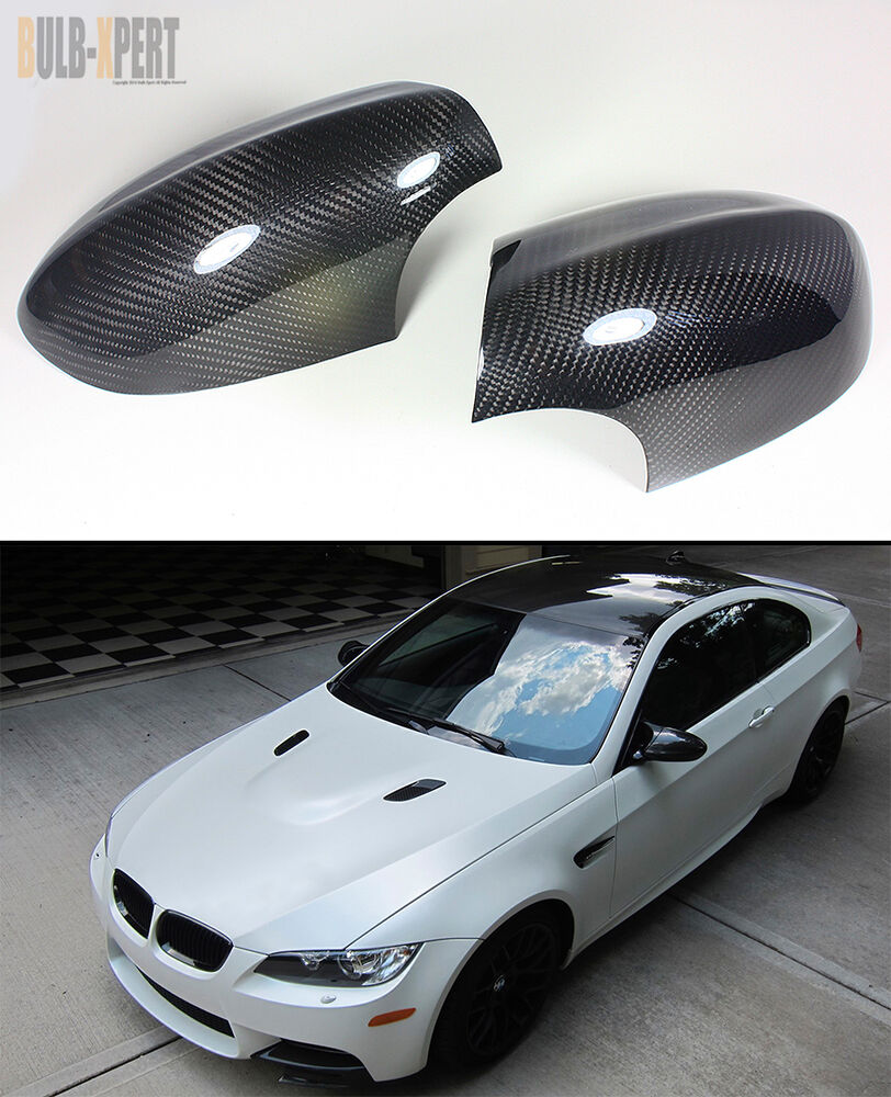 100 Real Vacuumed Dry Carbon Fiber Side Mirror Cover Caps For Bmw E92 M3 Coupe Ebay