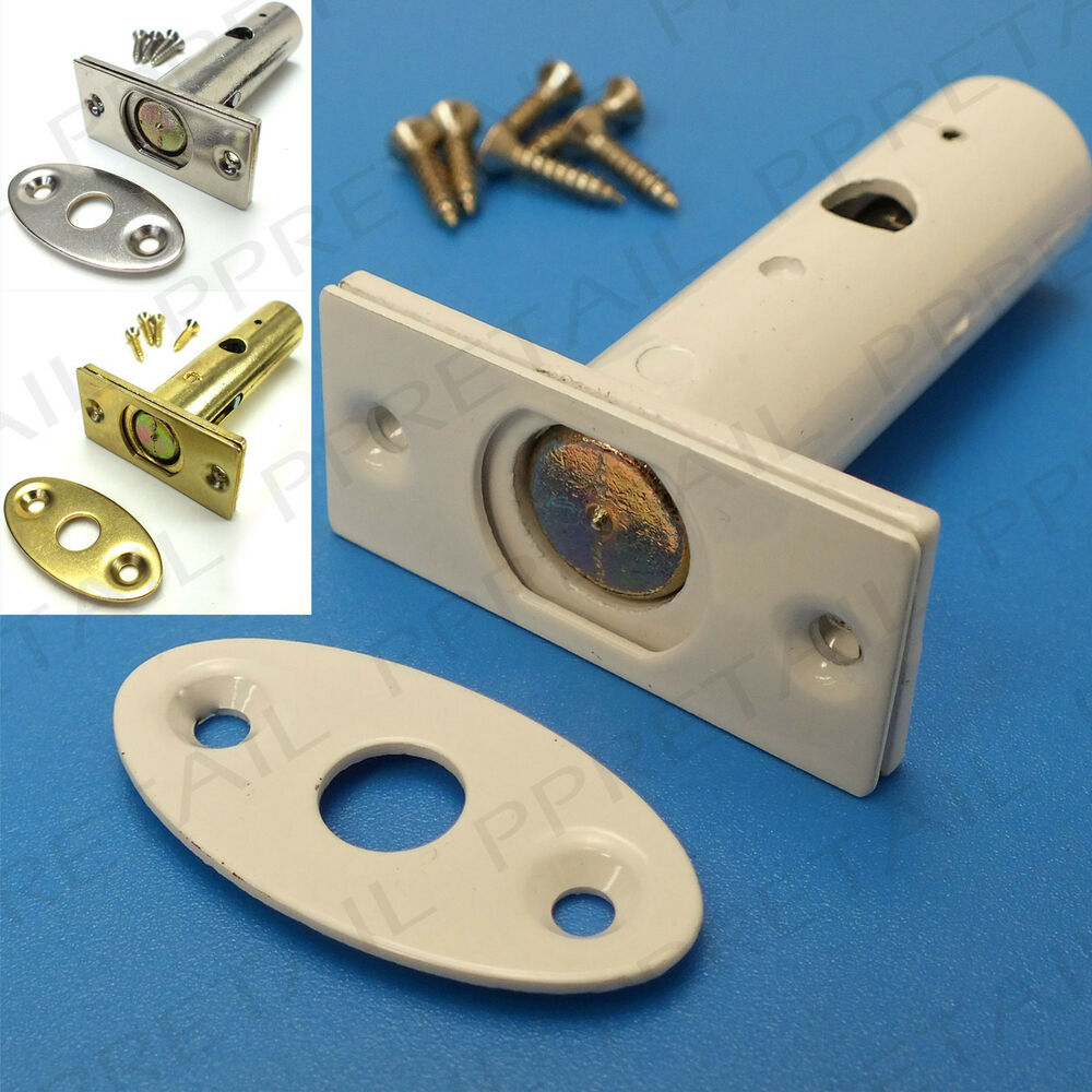 Security Door Locking Bolt Brass White Silver Concealed