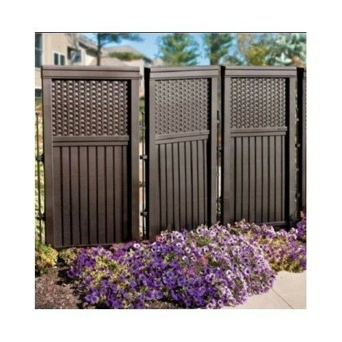 Resin outdoor privacy screen divider enclosure fence for Plastic garden screening panels