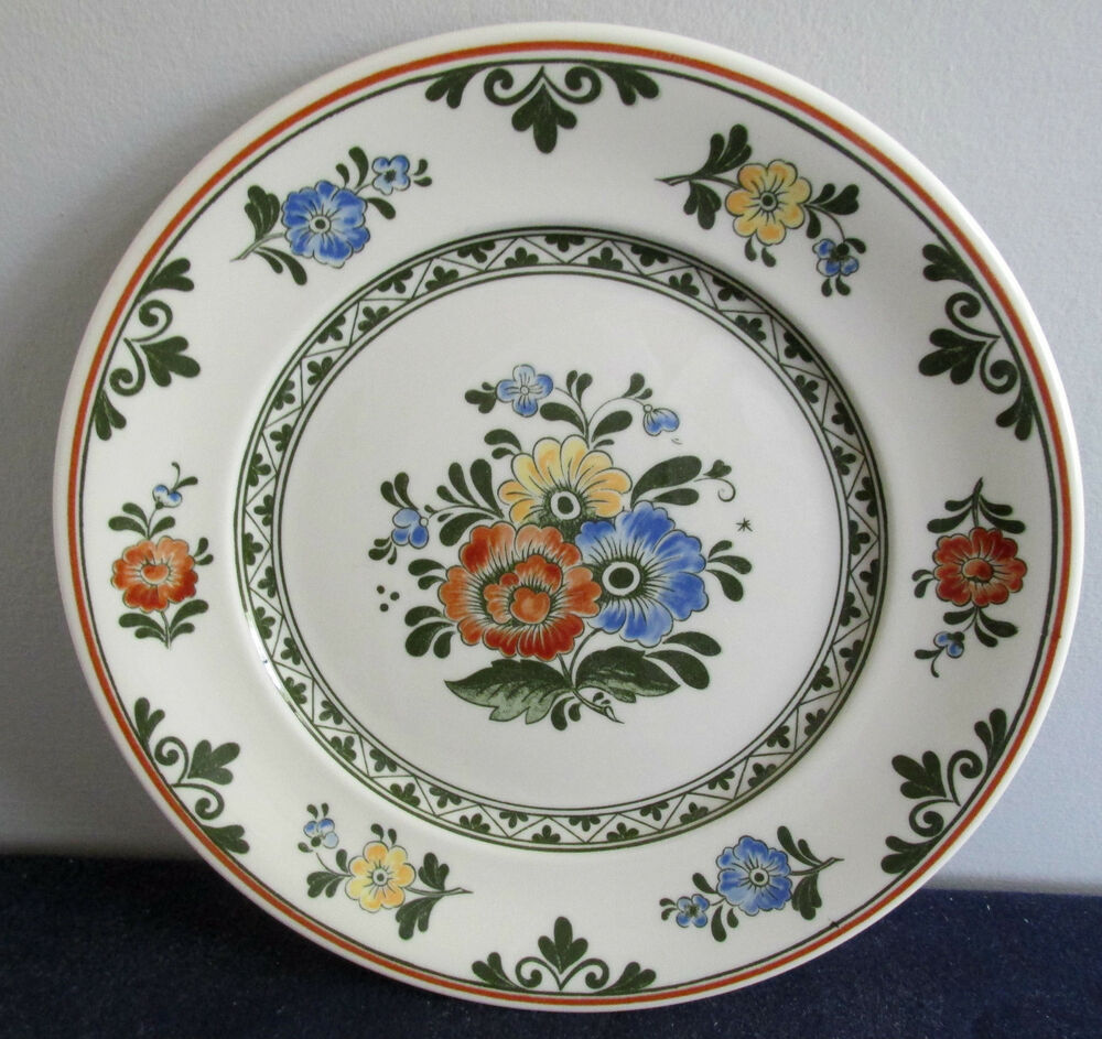 villeroy boch alt amsterdam 8 1 4 salad plate brown stamp germany ebay. Black Bedroom Furniture Sets. Home Design Ideas