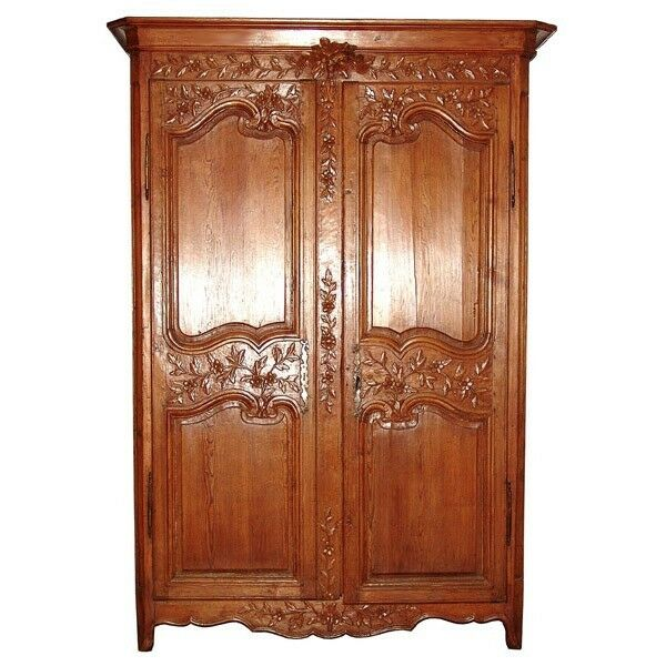 french armoire antique 6333 ebay. Black Bedroom Furniture Sets. Home Design Ideas
