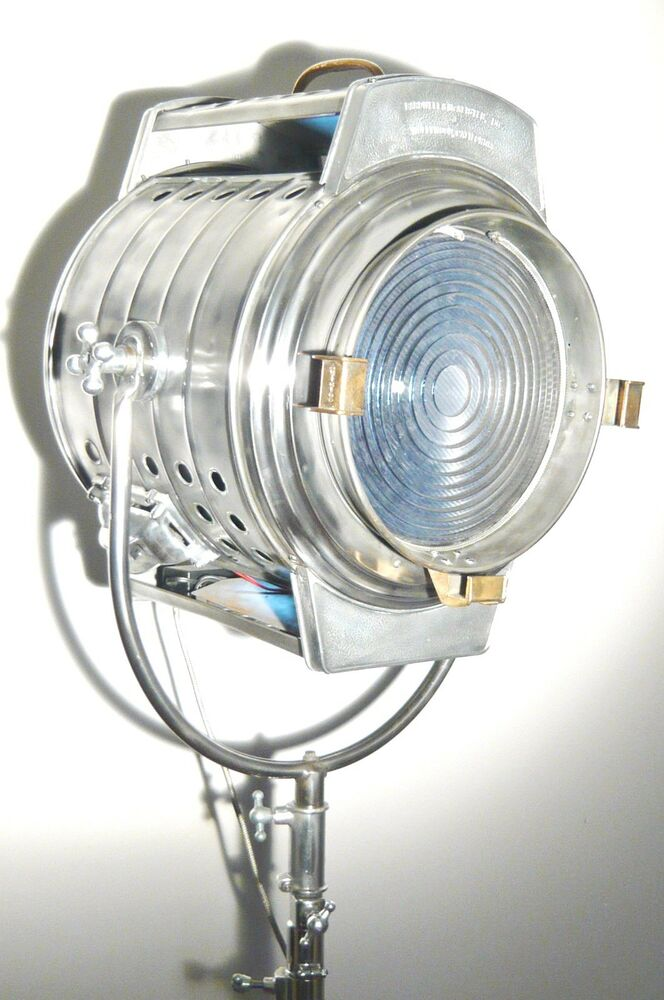 Vintage 1940s film studio spot light movie industrial for 1940s hollywood studio floor lamp