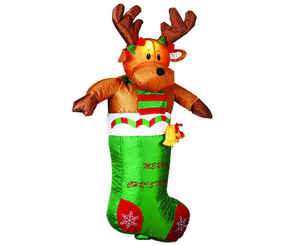 3 6ft large airblown inflatable deerlet christmas lawn for Airblown christmas decoration