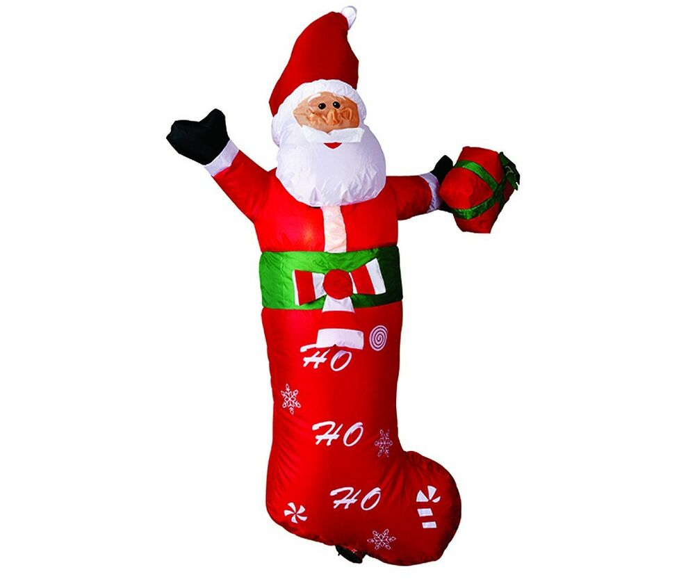 Large airblown inflatable santa claus christmas outdoor for Outdoor santa decorations