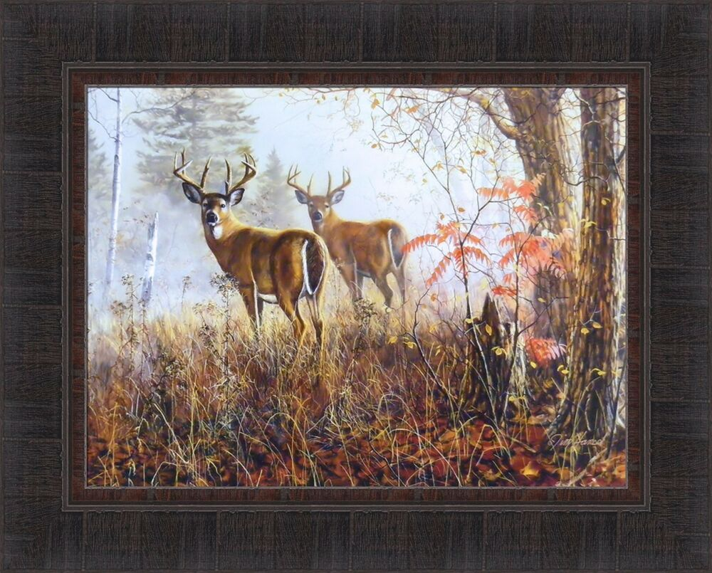 Double Vision By Jim Hansel 17x21 Buck Whitetail Deer