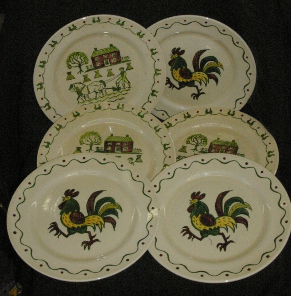 6 vintage metlox poppy trail 10 dinner plates homestead for Pottery patterns