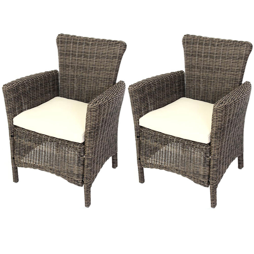 1x oder 2x luxus poly rattan gartensessel korbsessel romv 85 5x61x60cm naturgrau ebay. Black Bedroom Furniture Sets. Home Design Ideas